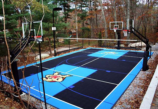 Edmonton custom home addition building a sport court for How to build basketball court