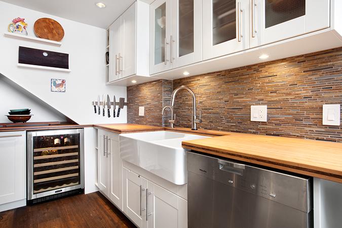 Custom Wine Fridge In Kitchen Remodel